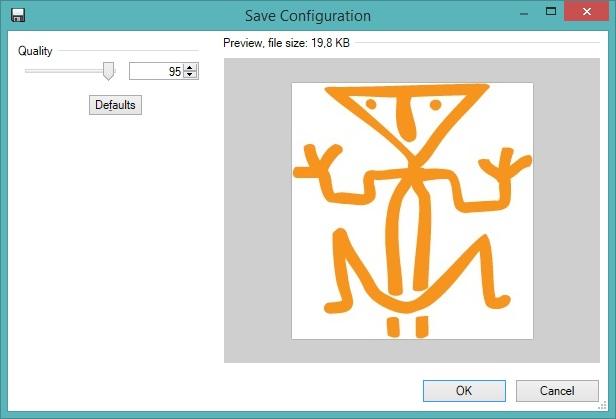 Opslaan in JPEG formaat met compressie