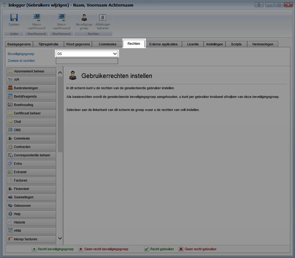 Gebruikers koppelen aan beveiligingsgroep