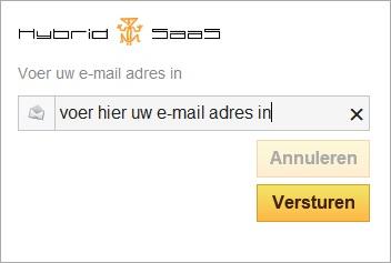 E-mail adres invoeren